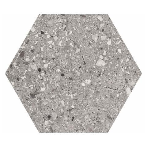 Hendrix Grey Hexagon Porcelain