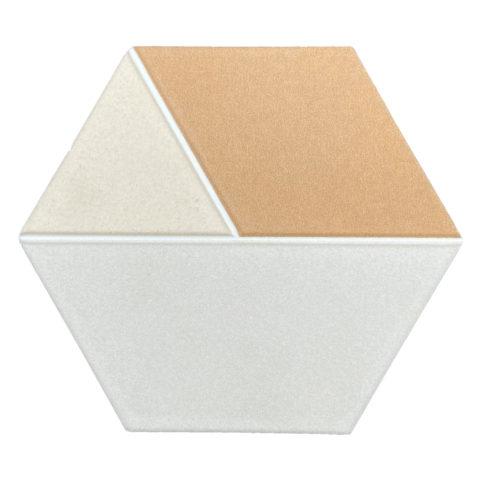 Tricolor Caramel Hexagon Porcelain