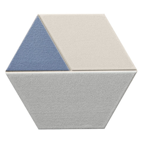 Tricolor Navy Hexagon Porcelain