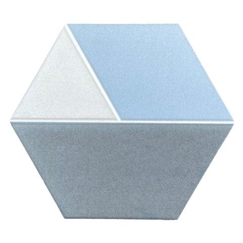 Tricolor Sky Hexagon Porcelain