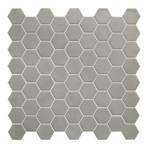 Hexa Grey Matt Porcelain Mosaic