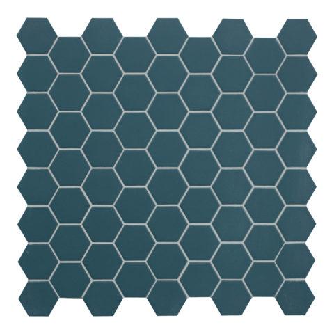 Hexa Petrol Matt Porcelain Mosaic