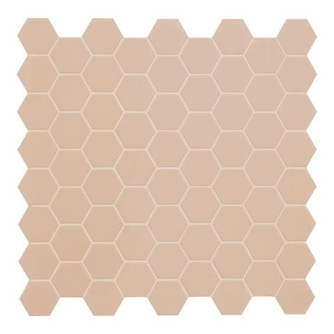 Hexa Powder Pink Matt Porcelain Mosaic