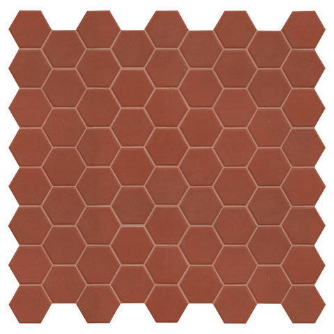 Hexa Russet Matt Porcelain Mosaic