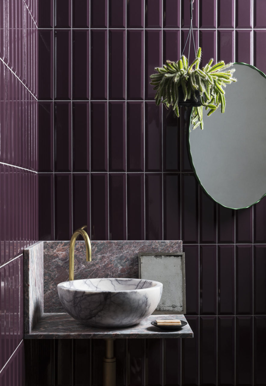 norse-subway-grape-gloss-ceramic-tile-with-mirror-and-sink