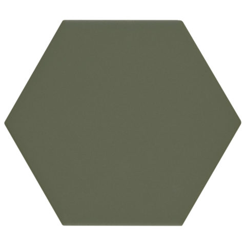 Oska Jungle Green Matt Porcelain Hexagon