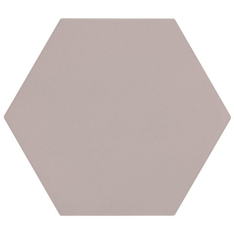 Oska Powder Pink Matt Porcelain Hexagon