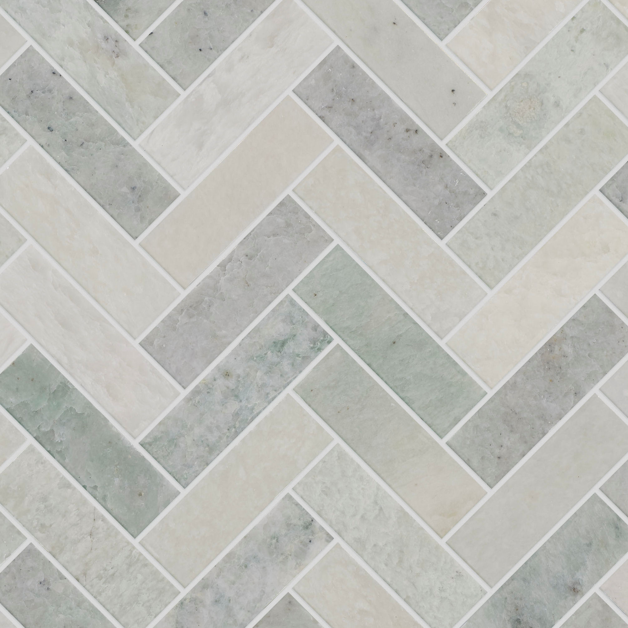 Verbena Honed Marble Herringbone Mosaic Tiles Mandarin Stone