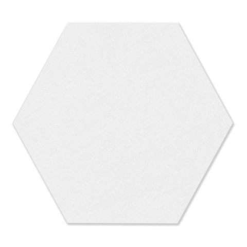 Colour Block White Porcelain Hexagon