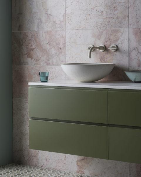 Islington Stone Topped Painted Vanity Unit