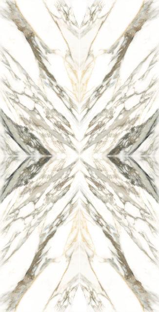 Capri White Gloss Bookmatch Porcelain