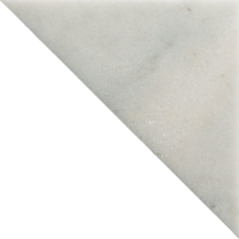 Fitz White Honed Marble Triangle