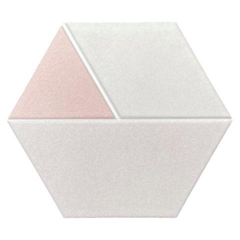 Tricolor Pink Hexagon Porcelain
