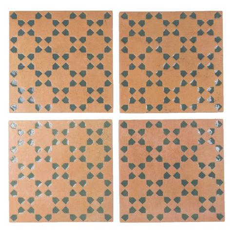 Riad Terracotta/Green Decor Porcelain