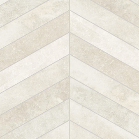 Fusion White Matt Porcelain Chevron